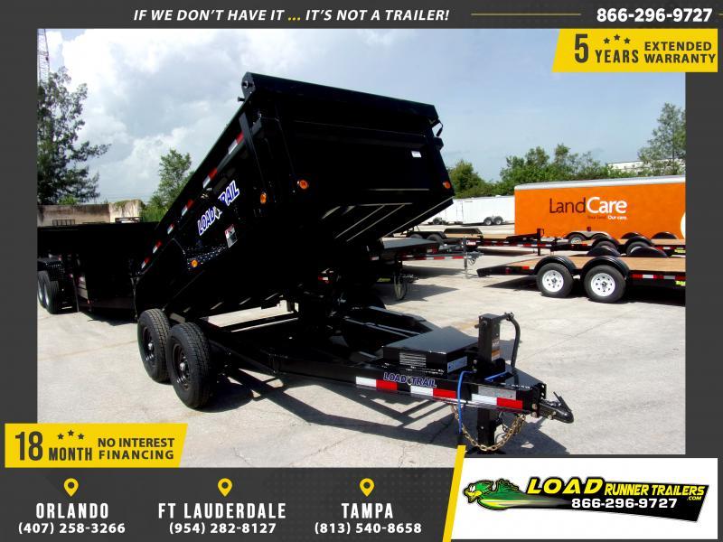*116588* 6x12 Dump Trailer |LRT Tandem Axle Trailers 6 x 12