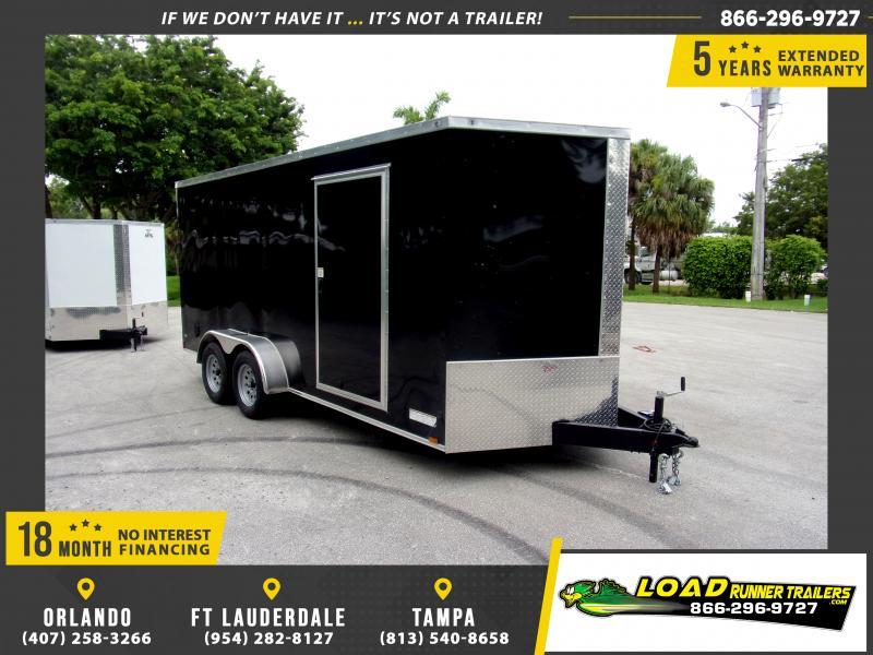 *117187* 7x16 Enclosed Cargo Trailer |LRT Tandem Axle Trailers 7 x 16