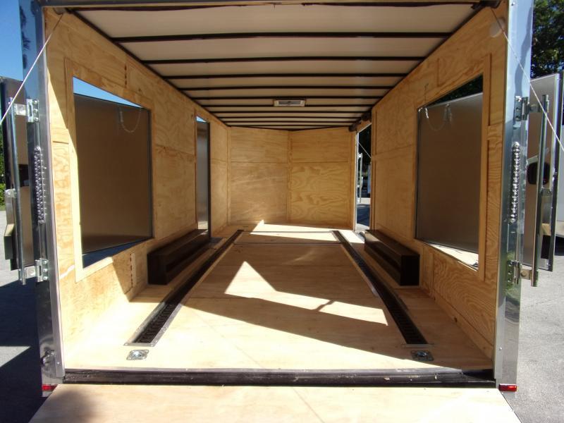 *112664* 8.5x20 Enclosed Cargo Trailer  LRT Tandem Axle Trailers 8.5 x 20