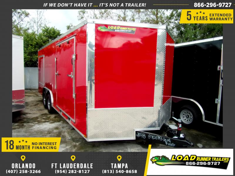 *112284* 8.5x20 Enclosed Cargo Trailer  8.5 x 20