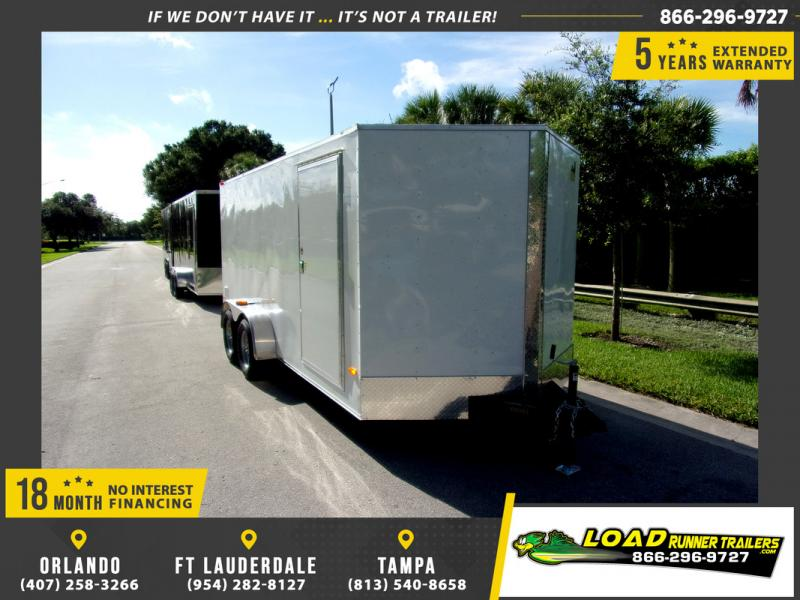 *110036* 7x16 Enclosed Cargo Trailer |LRT Tandem Axle Trailers 7 x 16