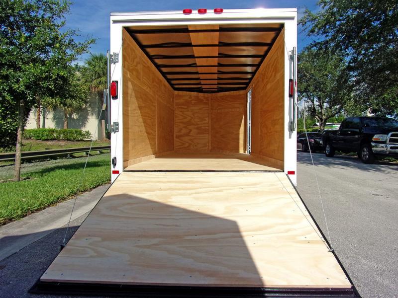 *110036* 7x16 Enclosed Cargo Trailer |LRT Tandem Axle Trailers 7 x 16