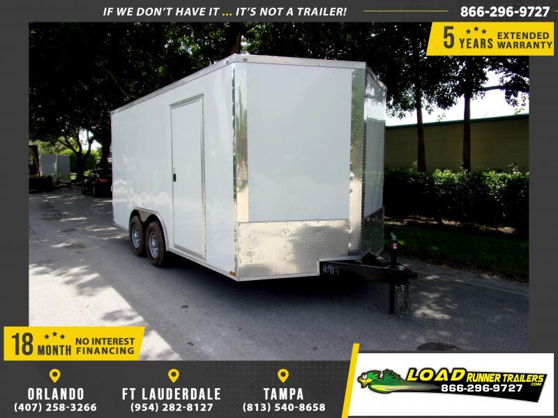 *111247* 8.5x16 Enclosed Cargo Trailer |LRT Tandem Axle Trailers 8.5 x 16