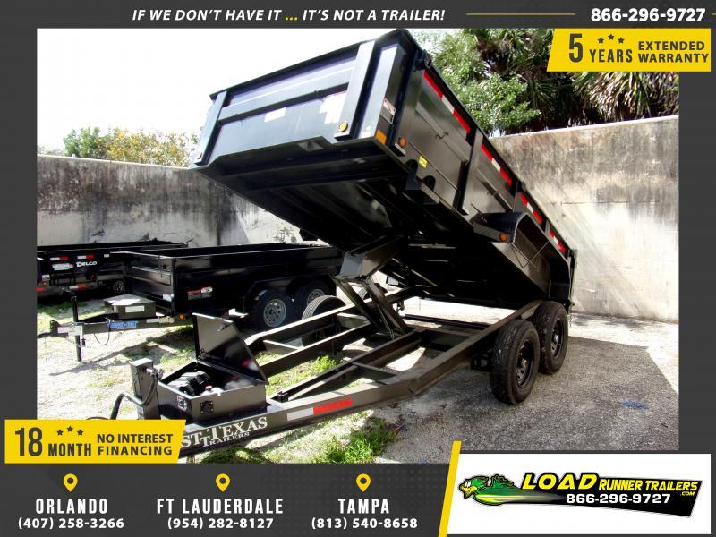 *115247* 7x14 Dump Trailer |LRT Tandem Axle Trailers 7 x 14