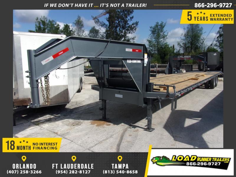 *115049* 8.5x40 Gooseneck Flatbed Deck Over Trailer  LRT Haulers & Trailers 8.5 x 40