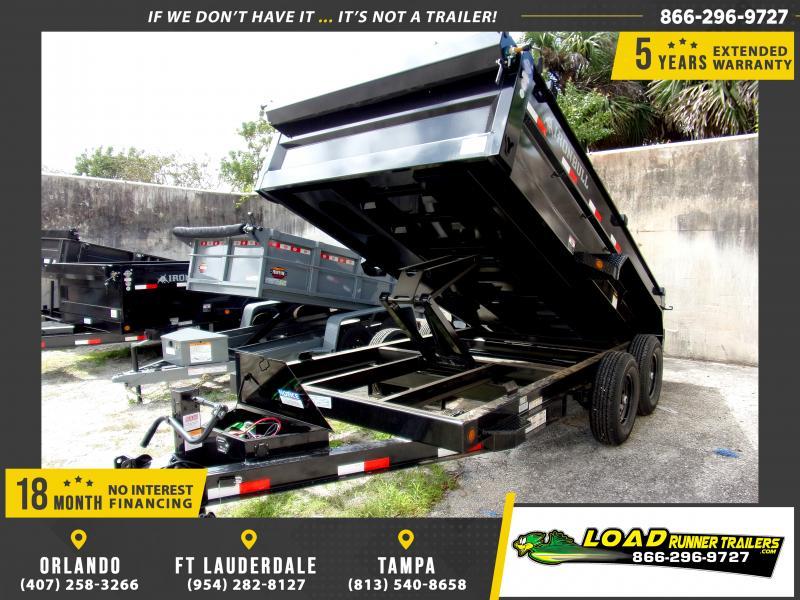 *115571* 7x14 Dump Trailer  LRT Tandem Axle Trailers 7 x 14