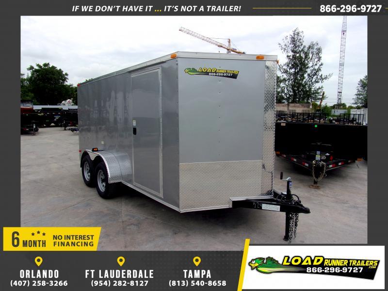 *115988* 7x14 Enclosed Cargo Trailer |LRT Tandem Axle Trailers 7 x 14