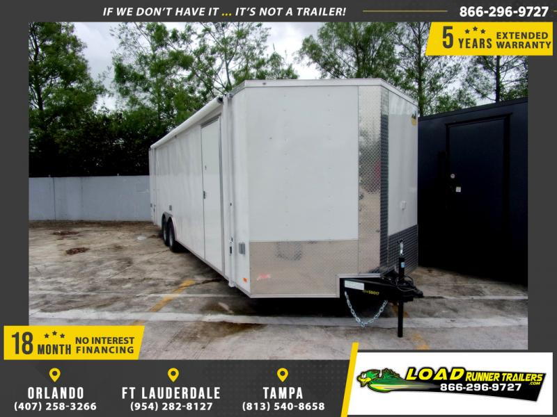 *109737* 8.5x28 Enclosed Cargo Trailer |LRT Tandem Axle Trailers 8.5 x 28