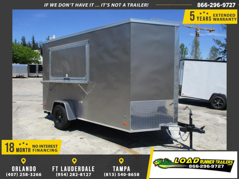 *108539* 6x12 Enclosed Cargo Trailer W/Concession Window 6 x 12