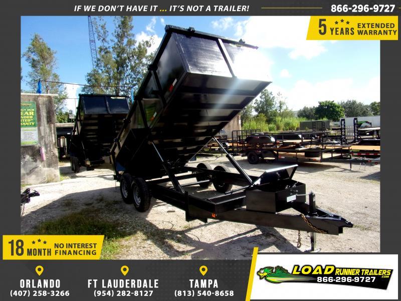 *111116* 7x16 Dump Trailer |LRT Tandem Axle Trailers 7 x 16
