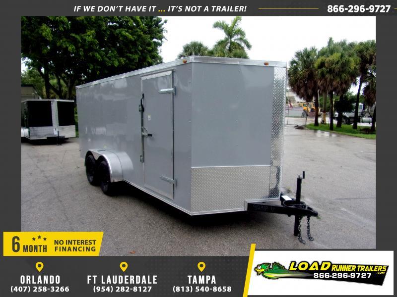 *116805* 7x16 Enclosed Cargo Trailer  LRT Tandem Axle Trailers 7 x 16