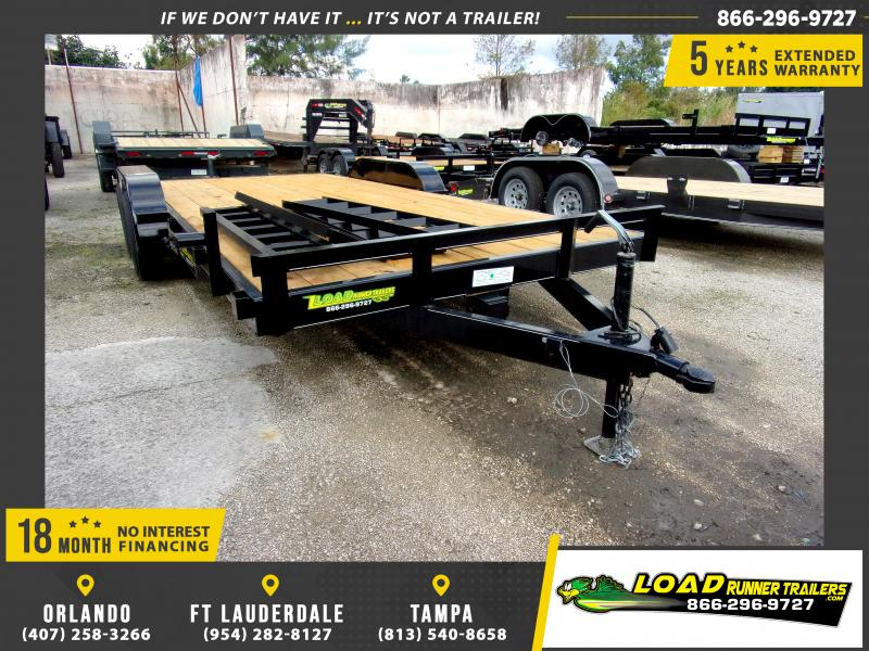 *112251* 7x18 Car Trailer |LRT Tandem Axle Trailers 7 x 18