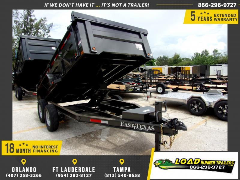 *116859* 7x14 Dump Trailer |LRT Tandem Axle Trailers 7 x 14