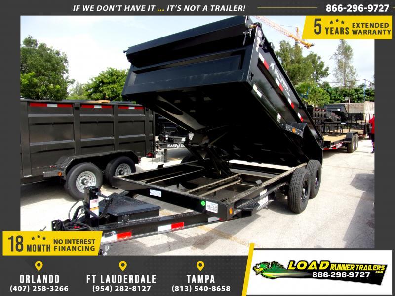 *117108* 7x14 Dump Trailer |LRT Tandem Axle Trailers 7 x 14