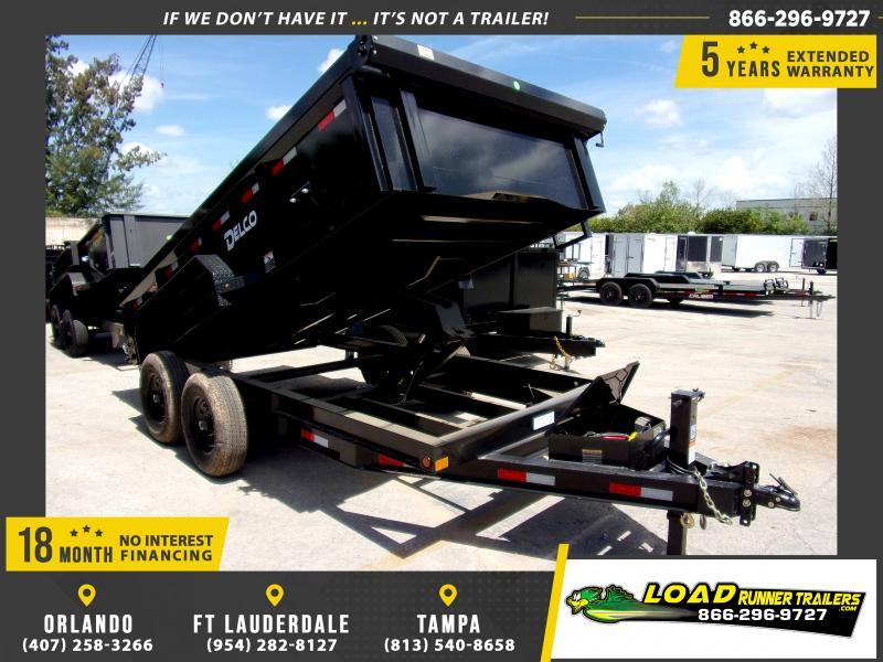 *114418* 7x14 Dump Trailer  LRT Tandem Axle Trailers 7 x 14