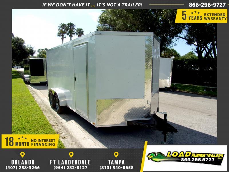 *117999* 7x16 Enclosed Cargo Trailer  LRT Tandem Axle Trailers 7 x 16
