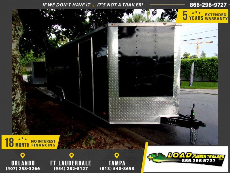 *117214* 8.5x24 Enclosed Cargo Trailer  LRT Tandem Axle Trailers 8.5 x 24