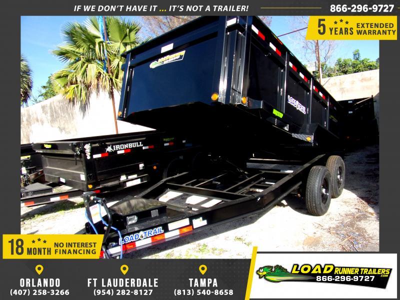*114457* 7x14 Dump Trailer |LRT Tandem Axle Trailers 7 x 14