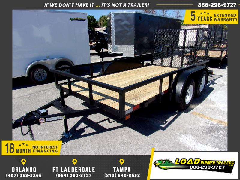 *113510* 6x12 Tandem Axle Utility Trailer With Brakes 6 x 12