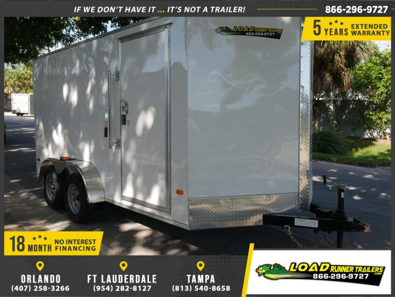 *E8F* 7x14 Enclosed Cargo Trailer |LRT Tandem Axle Trailers 7 x 14 | EV7-14T3-R