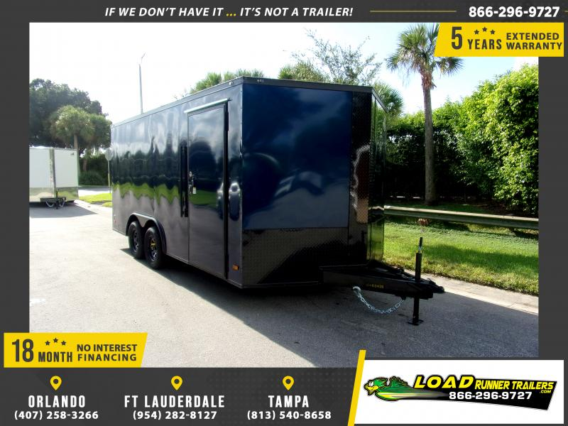 *111118* 8.5x16 Enclosed Cargo Trailer |LRT Tandem Axle Trailers 8.5 x 16
