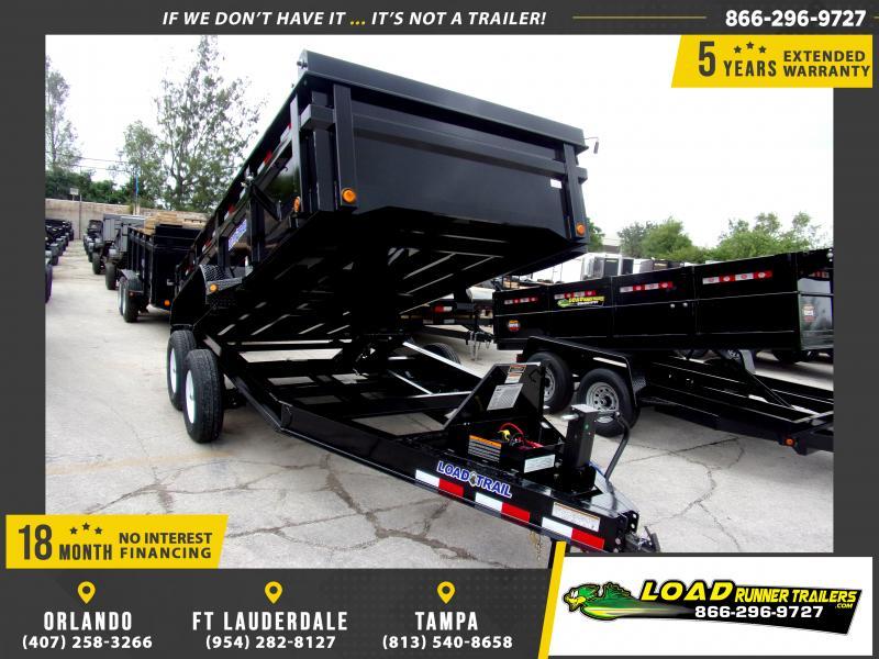*115917* 7x14 Dump Trailer  LRT Tandem Axle Trailers 7 x 14