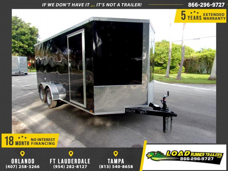 *115973* 7x16 Enclosed Cargo Trailer |LRT Tandem Axle Trailers 7 x 16