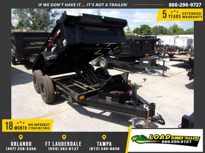 *114760* 5x10 Dump Trailer  LRT Tandem Axle Trailers 5 x 10