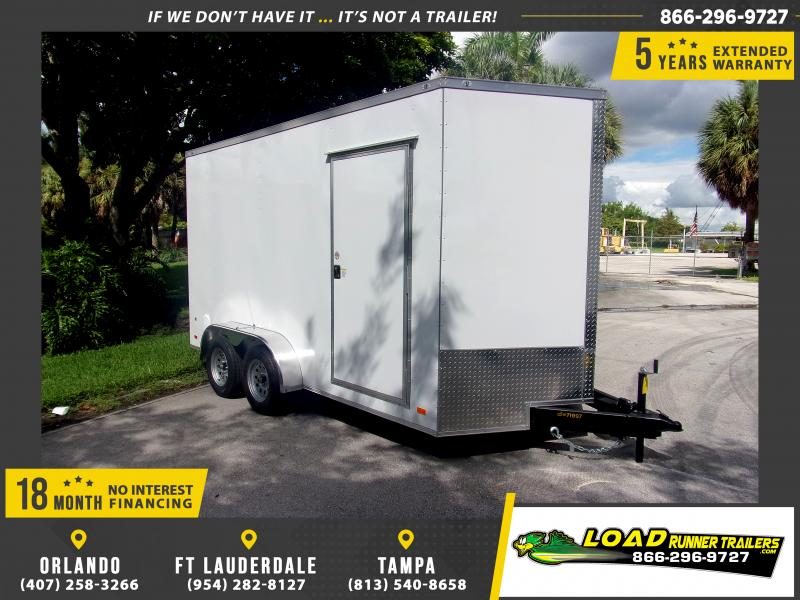 *117889* 7x14 Enclosed Cargo Trailer |LRT Tandem Axle Trailers 7 x 14