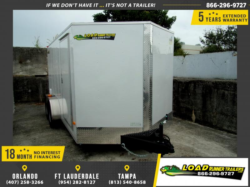 *112976* 7x14 Enclosed Cargo Trailer |LRT Tandem Axle Trailers 7 x 14