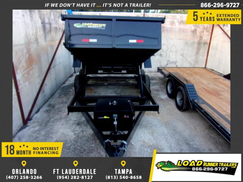 *116280* 7x14 Dump Trailer |LRT Tandem Axle Trailers 7 x 14