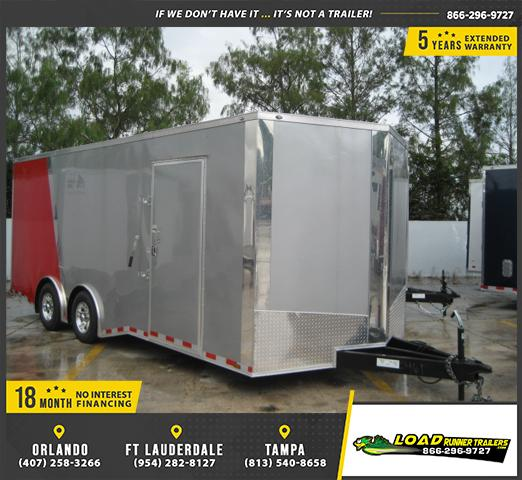 *E11E* 8.5x20 Enclosed Cargo Trailer Car Hauler 8.5 x 20 | EV8.5-20T5TS-R