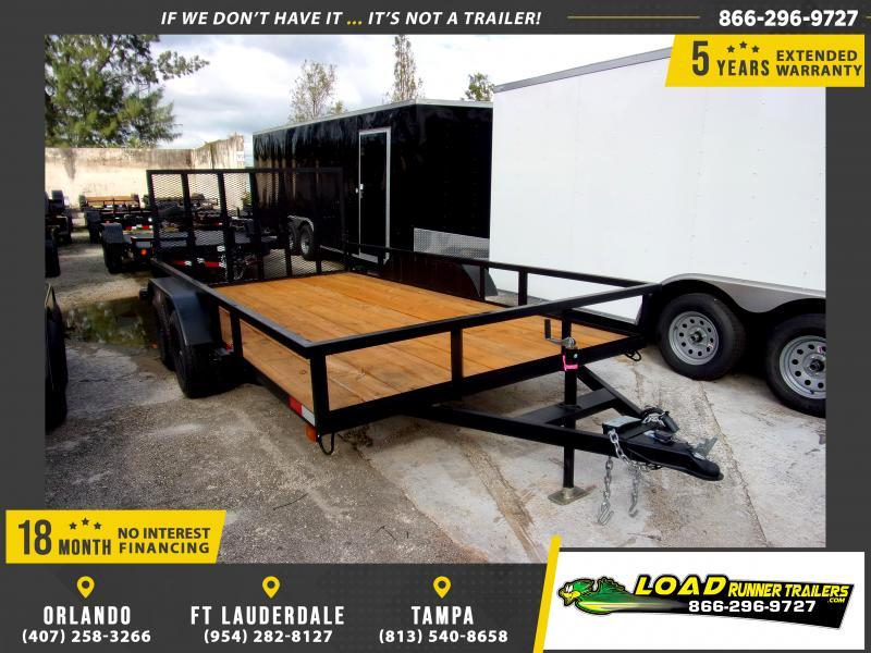 *111653* 7x14 Utility Trailer W/Brakes and Tube Rail 7 x 14