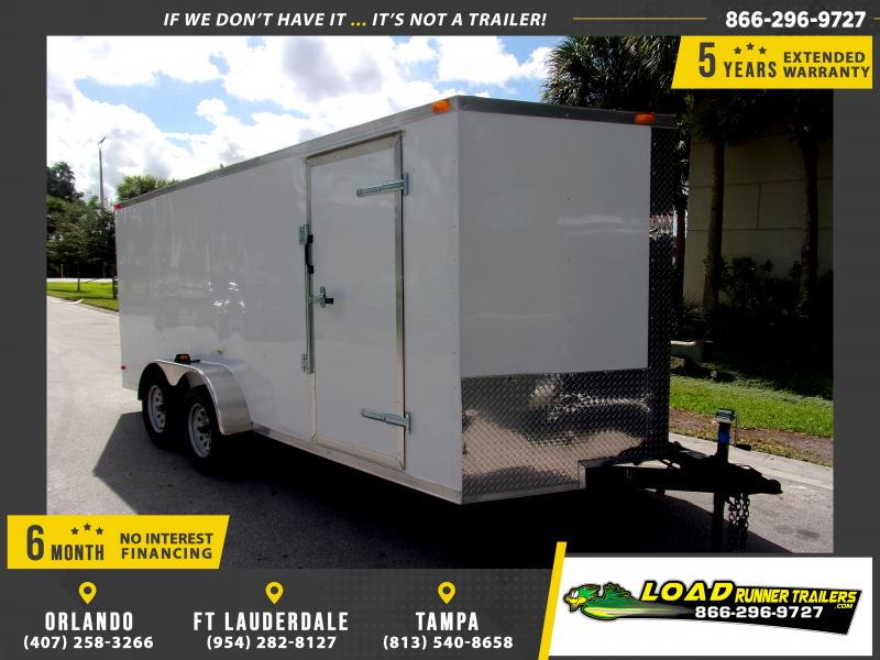 *111265* 7x16 Enclosed Cargo Trailer |LRT Tandem Axle Trailers 7 x 16