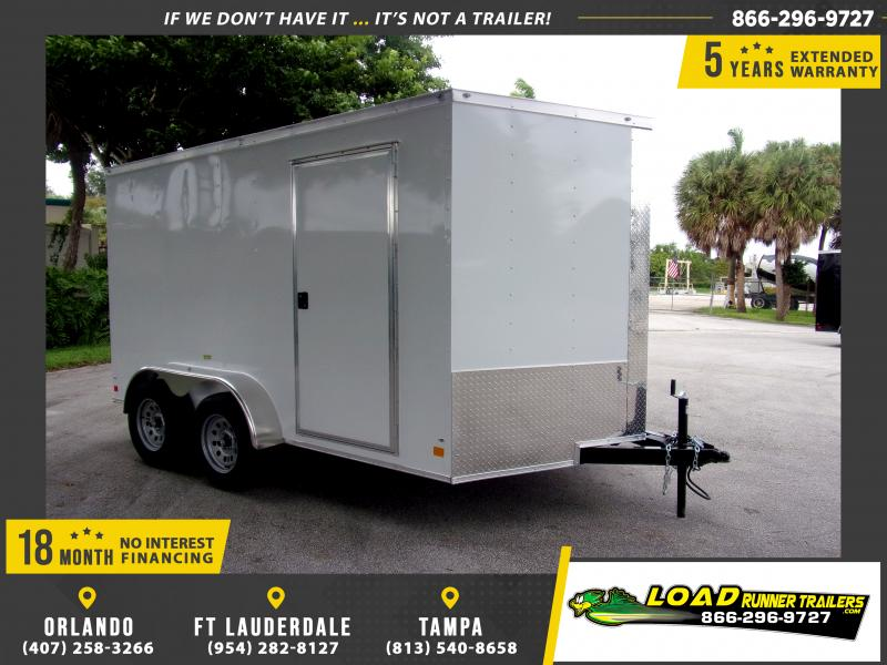 *115179* 7x12 Enclosed Cargo Trailer |LRT Tandem Axle Trailers 7 x 12