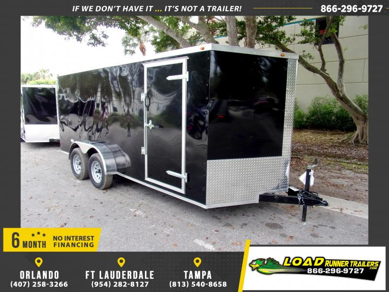 *113801* 7x16 Enclosed Cargo Trailer |LRT Tandem Axle Trailers 7 x 16