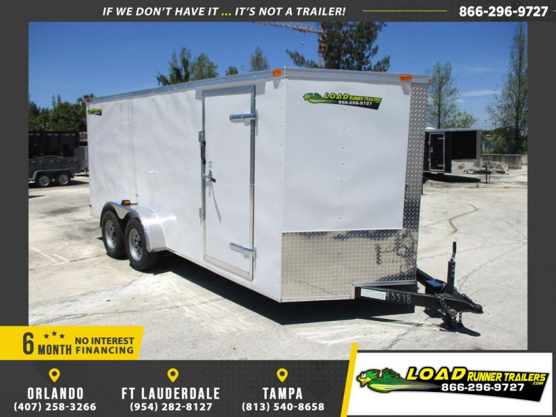 *108848* 7x16 Enclosed Cargo Trailer  LRT Tandem Axle Trailers 7 x 16