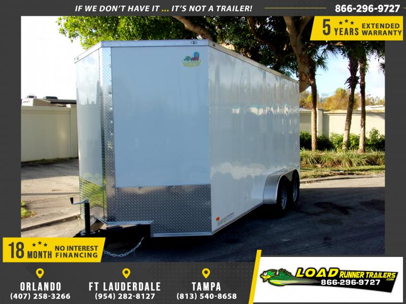 *113024* 7x16 Enclosed Cargo Trailer |LRT Tandem Axle Trailers 7 x 16