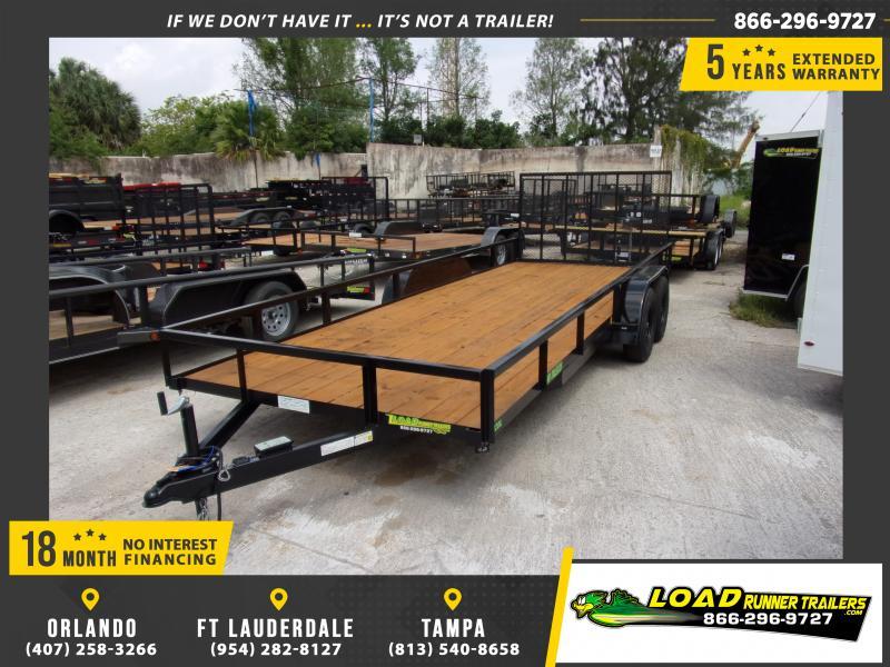 *114601* 7x20 Utility Lawn Multipurpose Trailer w/Tube Rail 7 x 20
