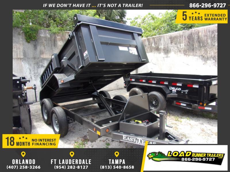 *114724* 5x10 Dump Trailer |LRT Tandem Axle Trailers 5 x 10