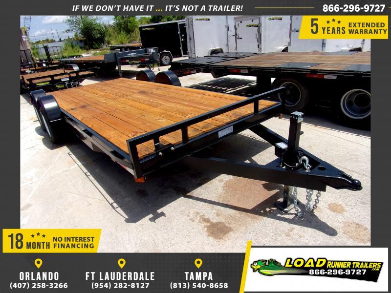 *115125* 7x18 Car Trailer |LRT Tandem Axle Trailers 7 x 18