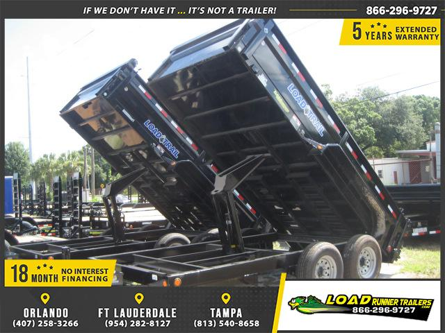 *DB19C* 7x14 Load Trail 14K Trailers Tandem Axle Dump Trailer 7 x 14 | D83-14T7-24S