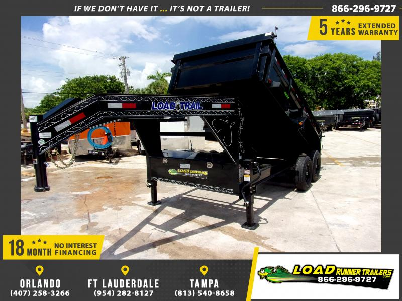 *117488* 7x14 Gooseneck Dump Trailer |LRT Tandem Axle Trailers 7 x 14
