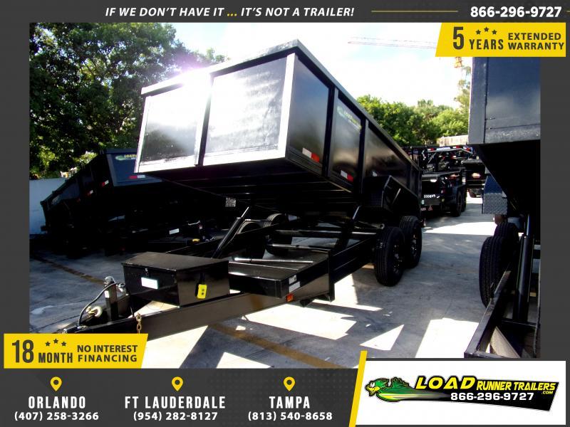 *118015* 7x14 Dump Trailer |LRT Tandem Axle Trailers 7 x 14