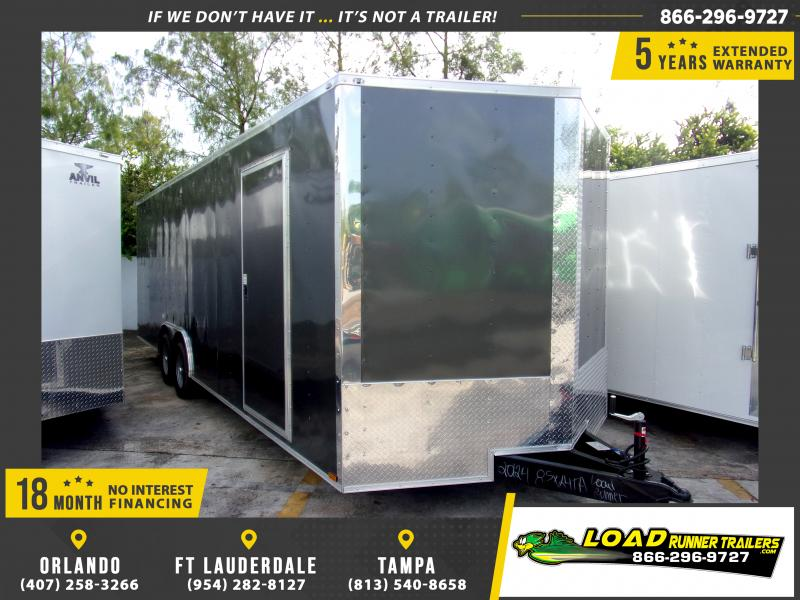 *111384* 8.5x24 Enclosed Cargo Trailer |LRT Tandem Axle Trailers 8.5 x 24