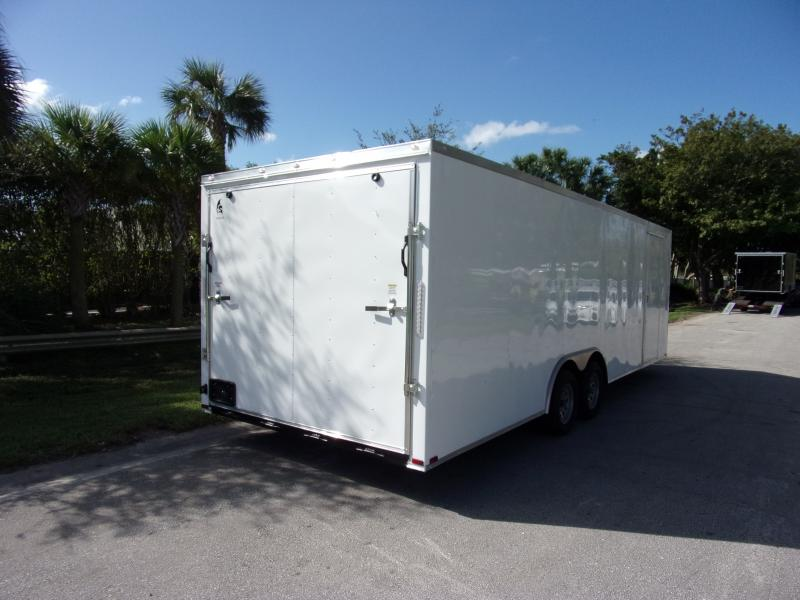*112439* 8.5x24 Enclosed Cargo Trailer |LRT Tandem Axle Trailers 8.5 x 24
