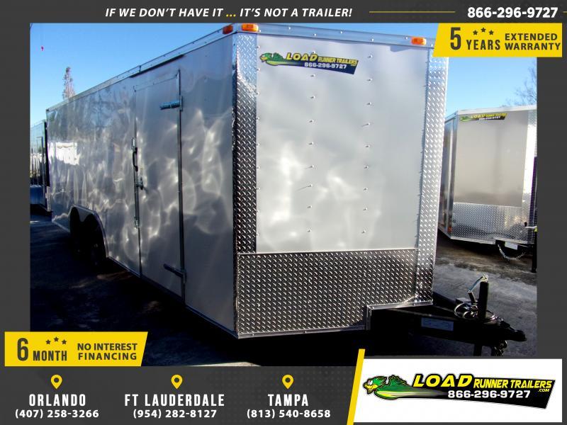 *E11-BB* 8.5x20 Enclosed Cargo Trailer |LRT Tandem Axle Trailers 8.5 x 20 | EV8.5-20T3-R
