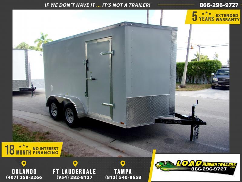 *117948* 7x12 Enclosed Cargo Trailer |LRT Tandem Axle Trailers 7 x 12
