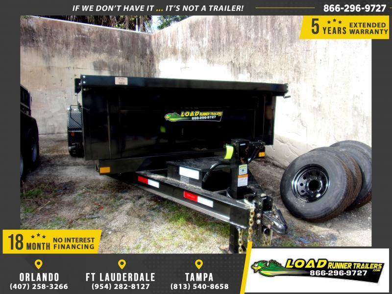 *114798* 7x14 Dump Trailer  LRT Tandem Axle Trailers 7 x 14