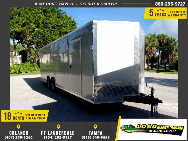 *117335* 8.5x24 Enclosed Cargo Trailer |LRT Tandem Axle Trailers 8.5 x 24